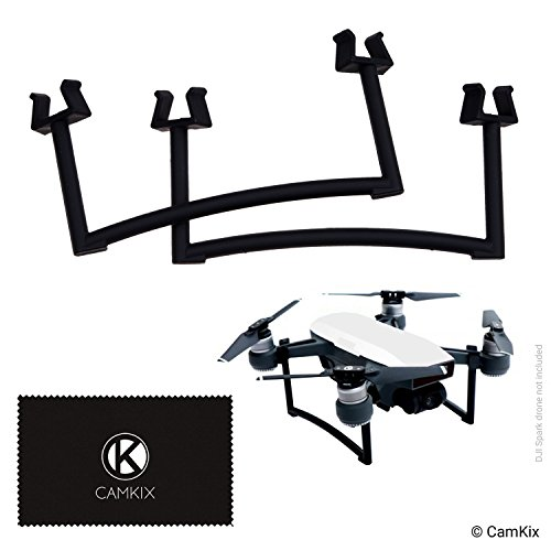 (CamKix Landing Gear Kit Compatible with DJI Spark - Extra Height and Safety - Gives Your DJI Drone Ground Clearance - Maximum Stability - Increased Distance Between Camera/Gimbal and Surface)