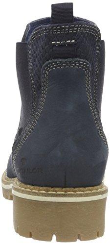 Tom Tailor 1694102, Botines para Mujer Azul - azul (marino)
