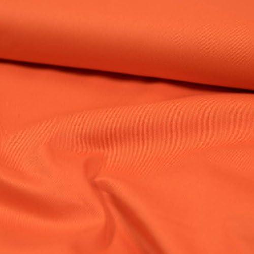 Tela de algodón para sarro, color naranja, monocolor, tejido de sarga de algodón, precio por 0,5 metros: Amazon.es: Hogar
