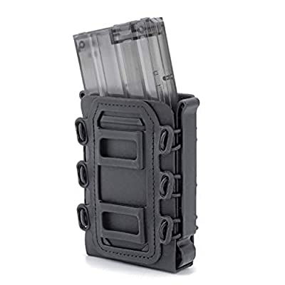 Simways Rifle Mag Pouch Holster 5.56 7.62 Soft Magazine Pouches Holder Tactical Mag Carrier Molle Clips M4 M16, AR15, AK47 Magazine