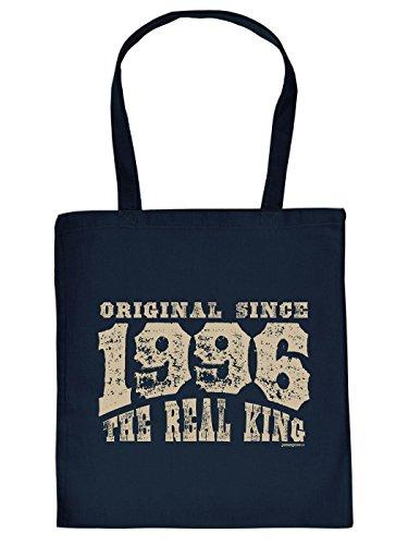Geschenkidee zum 18. Geburtstag: Unisex Jutetasche/ Einkaufstasche/ Stoffbeutel/ Original since 1996 The Real King
