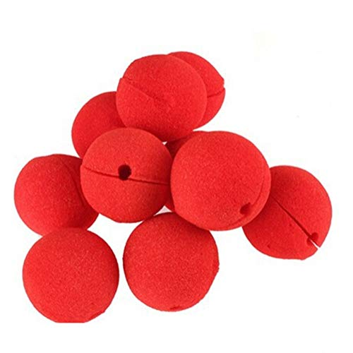 UUsave Party Supplies Squishy Red Circus Foam Clown Noses Costumes Parties Halloween Holidays (Pack of 25)