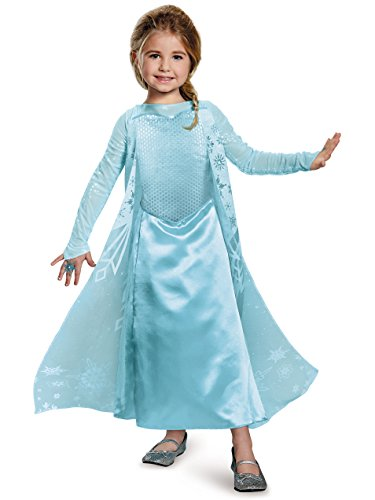 Elsa Sparkle Deluxe Frozen Disney Costume, -