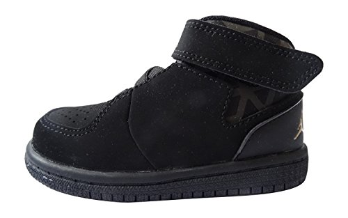NIKE Air Jordan 1 Flight 3 BT Infant Toddler Trainers 707322 Sneakers Shoes (UK 7.5 us 8C EU 25, Black Metallic Gold White 081) (Nike 8c Jordan Air)