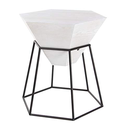 (Deco 79 Wood and Metal Hexagon Accent 22
