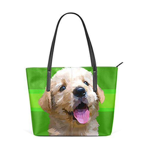 Bags Breed PU Purses Dog Shoulder Women's Small Golden Fluffy Totes Leather Art Fashion Top TIZORAX Handle Retriever Handbag nZ8xqXwnS