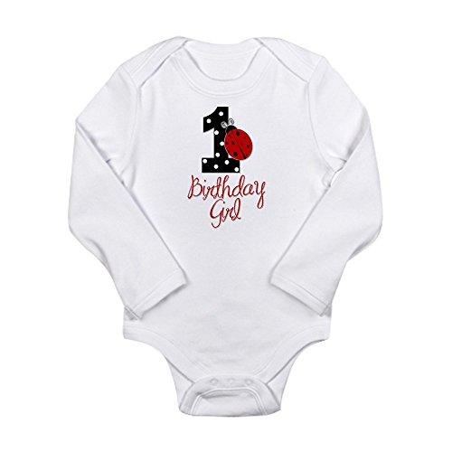 CafePress - Birthday Girl - LADYBUG 1 Long Sleeve Infant Bodys - Cute Long Sleeve Infant Bodysuit Baby (Ladybug Birthday Theme)