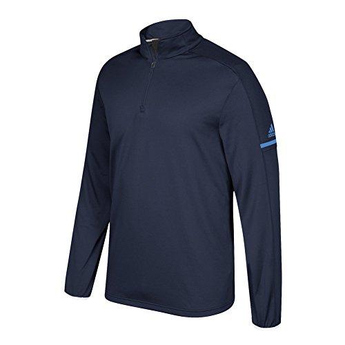 Gioco Adidas Costruito A Manica Lunga Quarto Collegiale Blu Scuro-blu