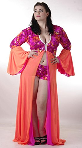 Delicate Illusions Plus Size Trumpet Sleeve Robe Set 12X (36-38) Pink Tortoise Foil