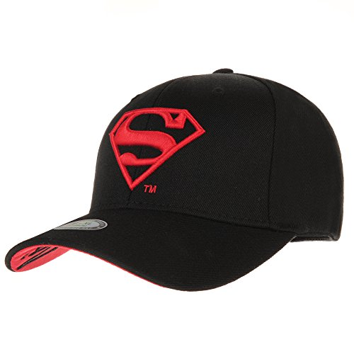 WITHMOONS Superman Vs Batman Shield Embroidery Baseball Cap AC3260 (Black, (Shield Cap)