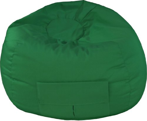 Gold Medal Bean Bags 31014084919 XX-Large Denim Bean Bag with Pocket, Green - Gold Medal Bag
