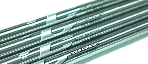 (NEW True Temper Tour Issue Tour Concept Green Satin 3-PW Steel Iron Shafts, .355 Taper -- Set of 8 Shafts (S300 Stiff))
