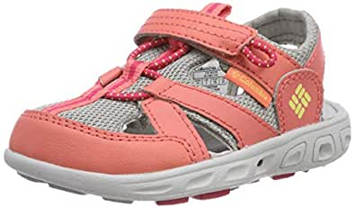 Columbia Unisex Childrens TECHSUN Wave Sport Sandal, hot Coral, Sweet Corn, 9 Regular US Little Kid