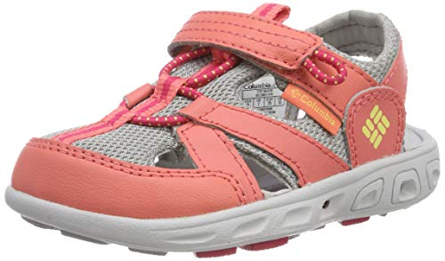 Columbia Unisex Childrens TECHSUN Wave Sport Sandal, hot Coral, Sweet Corn, 8 Regular US Little Kid