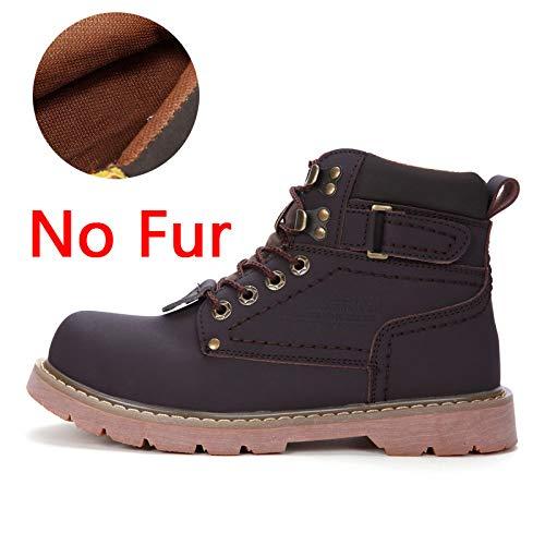 Invierno Fhcgmx Tamaño Fur Hombres Básicas Brown 38 Para Botas 46 No Hombre De Cuero Grande Dark wzqUBw