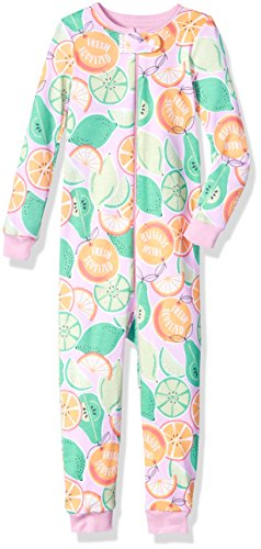 The Children's Place Baby Girls' Long Sleeve 'Fresh Squeezed' Citrus Printed Stretchie,Sparkle Pink,18-24 Months - 19 Sparkle