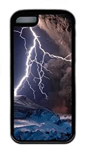 Apple iPhone 5C Case and Cover - Volcanic Eruptions And Lightning TPU Case Cover For iPhone 5C - Black by wotar