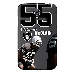 Slim Fit Tpu Protector Shock Absorbent Bumper Oakland Raiders Case For Galaxy S4