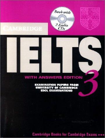 Cambridge IELTS 3: Self-study Pack