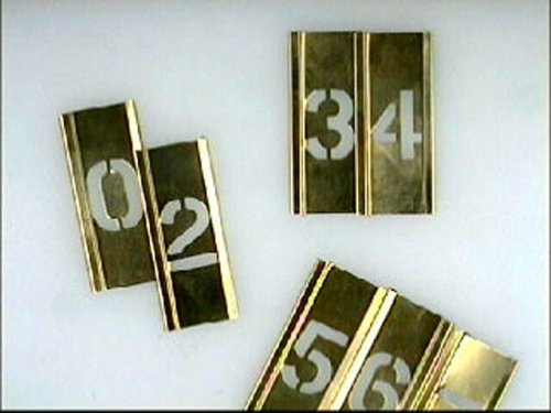 Stencils Set of Pp Brass Locking Stencils - Letters 1in 3253560354558 Decorating Tools Home and Leisure Items Letter Stencils - Brass Stencils - Letters and Numbers
