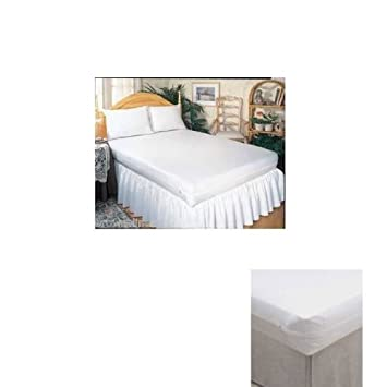 Twin Size Bed Mattress Cover Zipper Plastic Waterproof Bed Bugs Protector  Mites