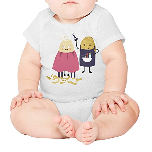 xs4tdg563kfu Haircut Potato Newspaper Funny Barber Baby Short-Sleeved Climbing Clothing Individuality ()