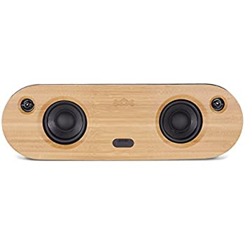 """House of Marley, Bag of Riddim Bluetooth Portable Audio System - 10 Hour Playtime,  2 x 3.5"""" Woofer + 2 x 1"""" Tweeters, Removable Bag with Strap & Handle, Bamboo Faceplate, EM-JA014-SB Siganture Black"""
