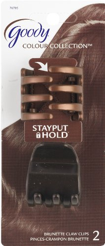 Goody Colour Collection 1/4 Claws Hair Clip, Stay Put Hold,