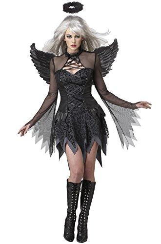 Devil Costume For Halloween (California Costumes Fallen Angel Dress, Black, X-Large)