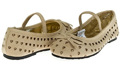 Chatties Toddler Girls Microsuede Ballet Flats Size 5/6 - Tan