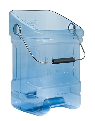 Rubbermaid 9F53 5.5 gallon Capacity, 10.5'' Length x 13.3'' Width x 17.8'' Height, Transparent Blue Color, Safe Ice Tote by Rubbermaid Commercial Products