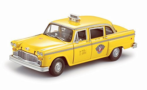 1981 Checker Taxi Cab - New York Diecast Model Car in 1:18 Scale by Sun Star