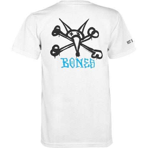 Powell Swiss (Powell-Peralta Rat Bones White T-Shirt, XX-Large)