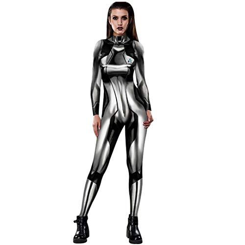 Tsyllyp Women Black Zero Suit Samus Halloween Cosplay Costume by Aesthetic Bodysuit
