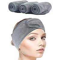 3 stuks cosmetica-hoofdbanden, badstof, haarband voor make-up, verstelbare haarbeschermingsband met klittenbandsluiting…