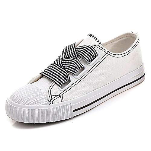 Toile Chaussures Blanc Rouge Femme Talon Rond Eté noir Confort Shoeshaoge Baskets Plat Printemps Blanc Bout amp; SqEwxdZ