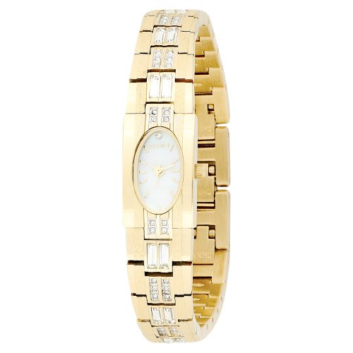 ELGIN Women's EG713 Austrian Crystal Accented Gold-Tone W...
