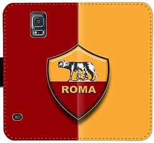 Como Roma Logo caja del cuero Y0R8L Funda Samsung Galaxy S5 funda de plástico 3q1ff7 Diseño funda caso del tirón del teléfono celular