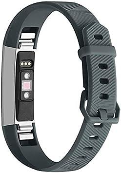 Correa de Silicona para Reloj de Pulsera para Fitbit Alta/HR (Verde Militar): Amazon.es: Electrónica