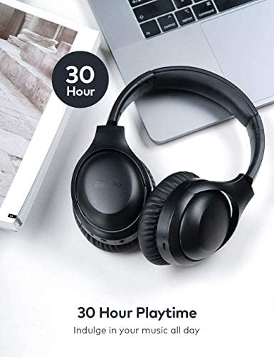 Active Noise Cancelling Headphones, Wireless Headphones Bluetooth Headphones with Mic, BesDio Over Ear Headphones with Quick Charge, Bluetooth 5.0 Deep Bass, 30H Playtime for Online Class Home Work PC 41G7I7XJ5ML
