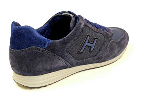 HOGAN HOMME HXM2050U67167A697T BLEU SUÈDE BASKETS