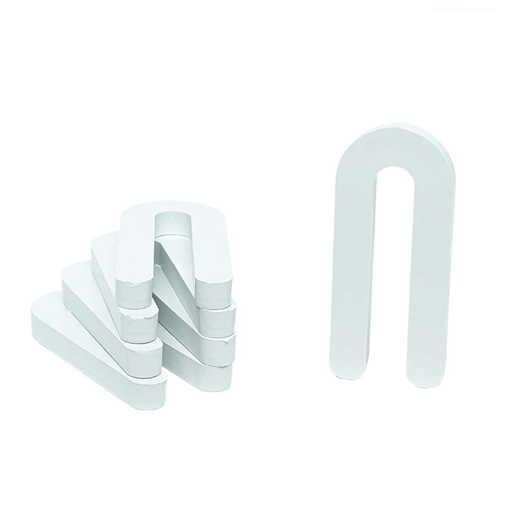 3/8'' x 1-1/2'' x 3-1/2'' Plastic Shims Structural Horseshoe U Shaped, Tile Spacers, White, Quantity 100 by Bridge Fasteners by Bridge Fasteners