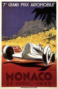 1935 Nice France Motor Racing Poster A3//A2//A1 Print