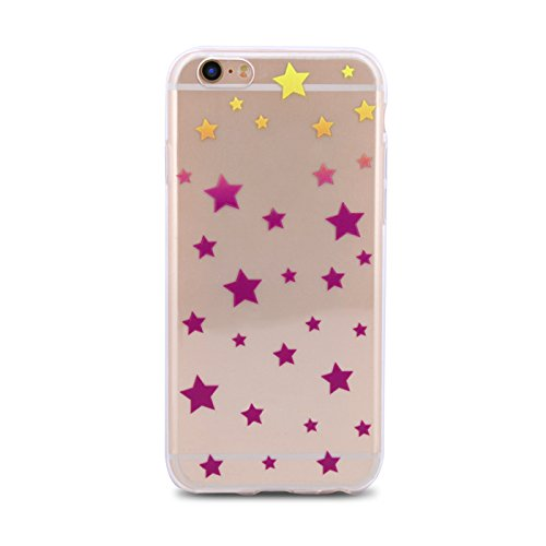 Hülle STERNE für Apple iPhone 5 iPhone 5S iPhone 5G iPhone 5SE Generation Silikonhülle Case Cover Handy Tasche TPU Silikon Hülle