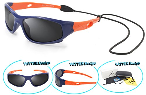 VATTER TR90 Unbreakable Polarized Sport Sunglasses For Kids Boys Girls Youth - Kids Sunglasses