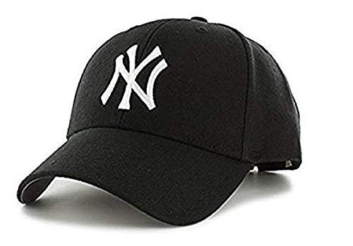 NexusWorld Hip Hop Unisex Cotton NY Snapback Baseball Cap  Black and White