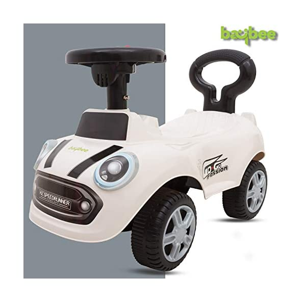 Baybee Cooper Kids Ride On Push Car Toy for Babies-Kids Ride on Toys-Kids Ride On for Children Kids Toy Car Baby Toys 1-3 Years-Twist, Turn, Wiggle for Babies Endless Fun-Kids for Boys & Girls (White)