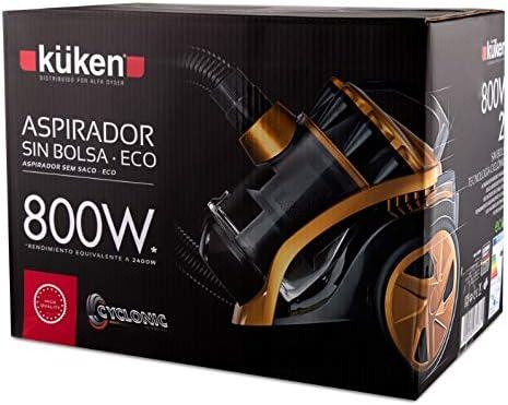 Alfa 12346 - Aspirad.s/bolsa kuken 800w.(2400w) dorado: Amazon.es ...