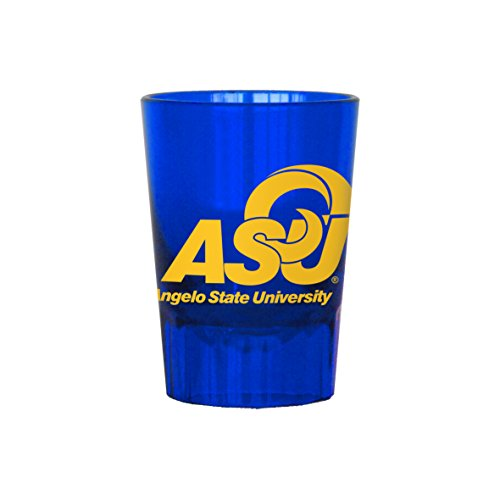 Boelter Brands NCAA Angelo State Rams Plastic Shot Glass, 2-Ounce