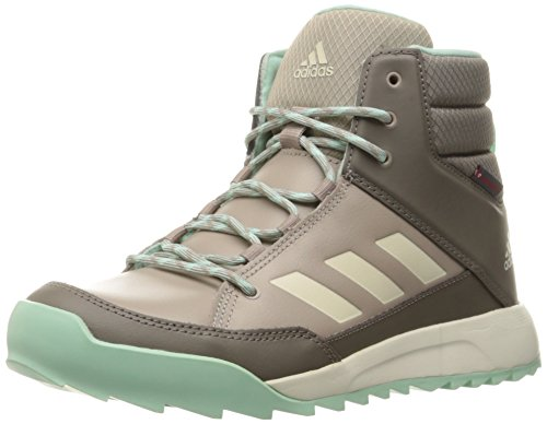 adidas Outdoor Women's Cw Choleah Sneaker Leather Snow Boot, Vapour Grey/Chalk White/Tech Earth, 6 M US